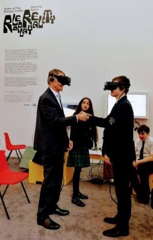 Sir Nick Serota VR with student