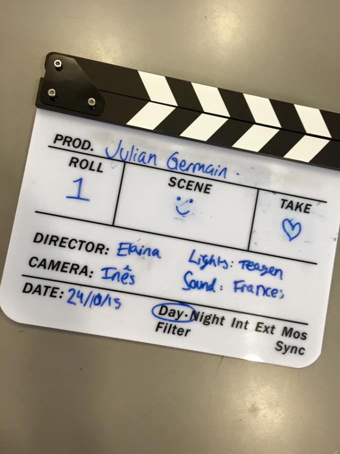 Film Crew - clapper board