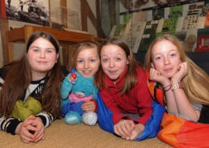 Girl Guides at Ancient House Museum. Photo Sonya Duncan