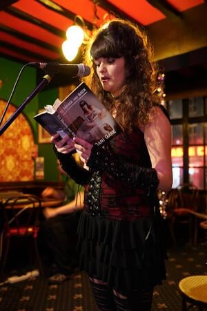 Performing with book