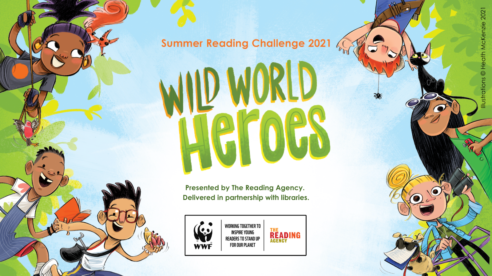 Wild World Heroes, Summer Reading Challenge 2021 and Discover Arts Award